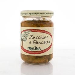 Zucchini and pancetta sauce